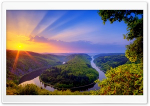 Saar Loop At Mettlach, Germany HD Wide Wallpaper for Widescreen