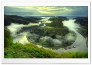 Saar River HD Wide Wallpaper for Widescreen