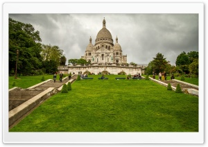 Sacre Coeur Basilica, Paris, France HD Wide Wallpaper for Widescreen