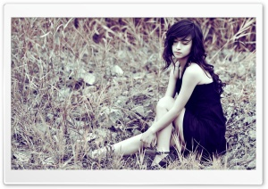 Sad Girl HD Wide Wallpaper for Widescreen