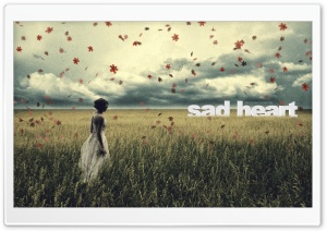 Sad Heart HD Wide Wallpaper for Widescreen