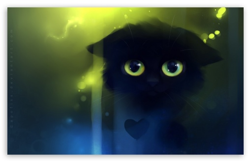 Sad Kitty Painting HD wallpaper for Wide 16:10 5:3 Widescreen WHXGA WQXGA WUXGA WXGA WGA ; HD 16:9 High Definition WQHD QWXGA 1080p 900p 720p QHD nHD ; Mobile 5:3 16:9 - WGA WQHD QWXGA 1080p 900p 720p QHD nHD ;