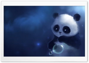 Sad Panda Painting HD Wide Wallpaper for Widescreen