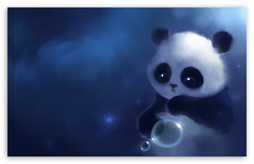 Sad Panda Painting HD wallpaper for Wide 16:10 5:3 Widescreen WHXGA WQXGA WUXGA WXGA WGA ; HD 16:9 High Definition WQHD QWXGA 1080p 900p 720p QHD nHD ; Mobile 5:3 16:9 - WGA WQHD QWXGA 1080p 900p 720p QHD nHD ;