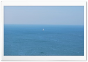 Sailboat In Open Sea HD Wide Wallpaper for Widescreen