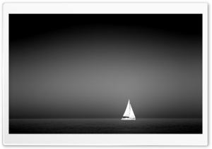 Sailboat On The Sea HD Wide Wallpaper for 4K UHD Widescreen desktop & smartphone