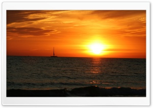 Sailing at Sunset HD Wide Wallpaper for Widescreen