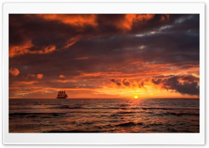 Sailing Ship, Skyline HD Wide Wallpaper for Widescreen