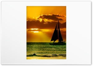 Sailing Sunset HD Wide Wallpaper for Widescreen