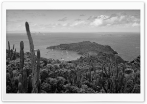 Saint Barts Caribbean Black and White HD Wide Wallpaper for Widescreen