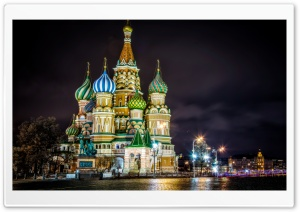 Saint Basil's Cathedral, Moscow, Russia HD Wide Wallpaper for Widescreen
