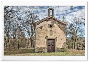 Saint Gaiet Chapel Castellterol, Catalonia HD Wide Wallpaper for 4K UHD Widescreen desktop & smartphone