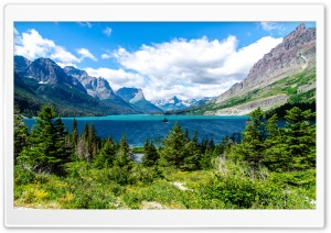 Saint Mary Lake Glacier National Park HD Wide Wallpaper for 4K UHD Widescreen desktop & smartphone