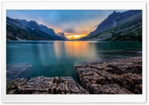Saint Mary Lake USA HD Wide Wallpaper for 4K UHD Widescreen desktop & smartphone