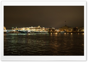 Saint Petersburg River Night View HD Wide Wallpaper for Widescreen