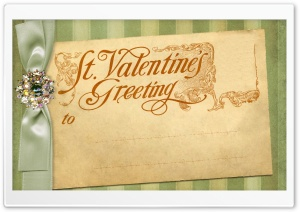 Saint Valentine Greetings - Vintage HD Wide Wallpaper for Widescreen