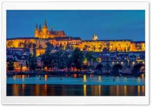 Saints Vitus Cathedral and Charles Bridge, Prague, Czechia Ultra HD Wallpaper for 4K UHD Widescreen desktop, tablet & smartphone