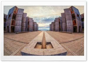 Salk Institute Fisheye HD Wide Wallpaper for Widescreen