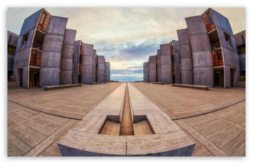 Download Salk Institute Fisheye HD Wallpaper