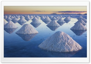 Salt Mounds At Salar De Uyuni, Bolivia HD Wide Wallpaper for Widescreen