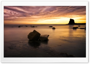 Saltwick Bay Beach Dawn Ultra HD Wallpaper for 4K UHD Widescreen desktop, tablet & smartphone