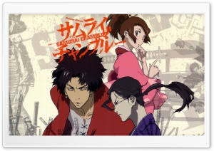 Samurai Champloo - Mugen, Jin, and Fuu HD Wide Wallpaper for Widescreen