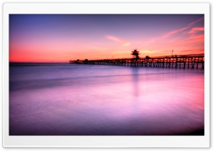 San Clemente Pier HD Wide Wallpaper for 4K UHD Widescreen desktop & smartphone