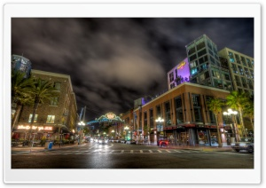 San Diego Gaslamp District Archway HD Wide Wallpaper for Widescreen