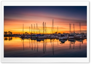 San Diego Harbor Sunset HD Wide Wallpaper for Widescreen