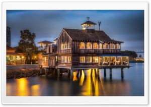 San Diego Pier Cafe HD Wide Wallpaper for Widescreen