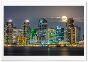 San Diego Skyline HD Wide Wallpaper for Widescreen