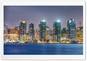 San Diego Skyline HD Wide Wallpaper for 4K UHD Widescreen desktop & smartphone