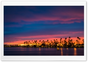 San Diego Sunset HD Wide Wallpaper for Widescreen