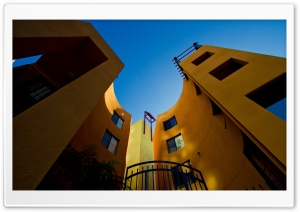 San Diego Yellow Building HD Wide Wallpaper for Widescreen