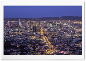 San Francisco at Dusk HD Wide Wallpaper for Widescreen