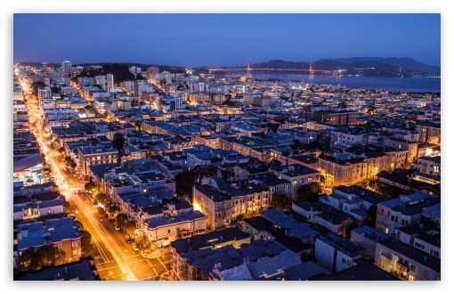 San Francisco At Night HD wallpaper for Wide 16:10 5:3 Widescreen ...