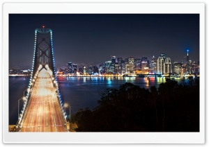 San Francisco At Night HD Wide Wallpaper for 4K UHD Widescreen desktop & smartphone