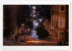 San Francisco At Night, California HD Wide Wallpaper for Widescreen