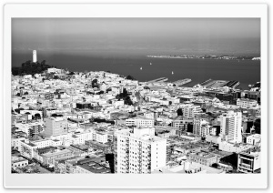 San Francisco Black And White HD Wide Wallpaper for Widescreen