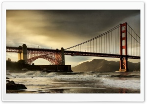 San Francisco Bridge HDR Tone Mapped HD Wide Wallpaper for 4K UHD Widescreen desktop & smartphone
