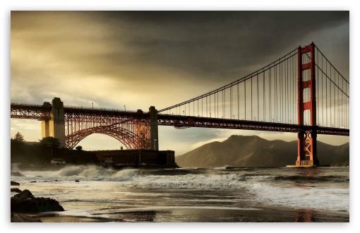 San Francisco Bridge Hdr Tone Mapped Ultra Hd Desktop Background Wallpaper For 4k Uhd Tv Widescreen Ultrawide Desktop Laptop Tablet Smartphone