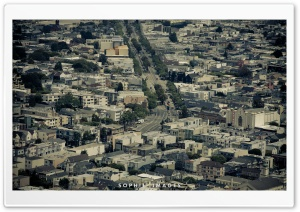 San Francisco City Dark HD Wide Wallpaper for Widescreen
