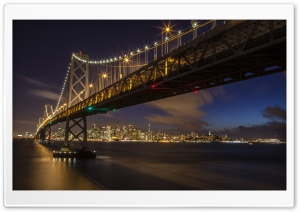 San Francisco Oakland Bay Bridge HD Wide Wallpaper for 4K UHD Widescreen desktop & smartphone