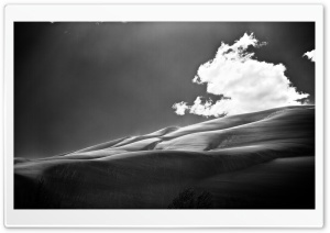 Sand Dunes BW HD Wide Wallpaper for Widescreen
