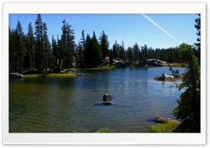 Sand Ridge Lake - Truckee, CA HD Wide Wallpaper for 4K UHD Widescreen desktop & smartphone
