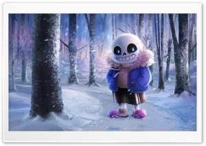 Sans Undertale HD Wide Wallpaper for 4K UHD Widescreen desktop & smartphone