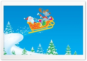 Santa Claus Cartoon HD Wide Wallpaper for Widescreen