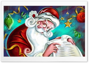 Santa Claus Christmas HD Wide Wallpaper for Widescreen