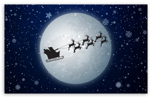 Santa Claus Christmas Eve Ultra Hd Desktop Background
