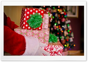 Santa Claus Gifts, Christmas HD Wide Wallpaper for 4K UHD Widescreen desktop & smartphone
